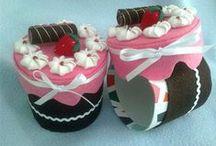MIS CAJAS DECORADAS / CUP CAKES FELT