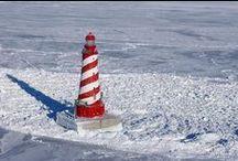 Lighthouse, Windmills, Pier