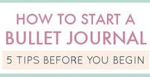 Bullet journal, planner, diary / Bullet journal and diary writing tips, planning tricks and ideas how to do.