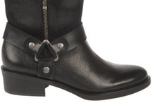 Biker Basics, Fall 2012 Inspiration / Ride into Fall with the coolest and most wearable ankle boots. Biker details, Beetle boots and lug soles rock in distressed suedes and black leather. / by Franco Sarto