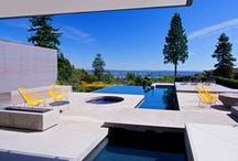 Alka Pool - Geometric Pools / For a more modern feel, choose a geometric design for your swimming pool that lends itself to crisp clean lines.