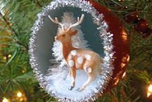 Handmade Christmas Ornaments / handmade ornaments. There may be a few things that are not ornaments...  / by Nancy Bivins