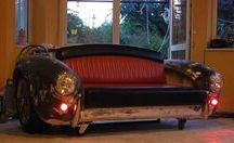 AC Cobra sofa furniture cars / AC Cobra sofa furniture cars, Interior Architecture - Commercial