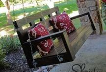 Swinging on the porch / Here are some awesome swings you can make for your front porch or in your yard.  So compfortable.  Have fun pinning ideas for now or for later.