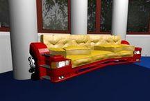 Trucks sofas, sofa z ciężarówki / Trucks sofas