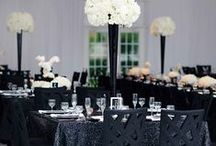 Black and White Wedding / Classic and elegant, black and white never goes out of style