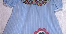 Kjoler og skjørt i redesign / Gamle klær og tekstiler gis nytt liv - liv som fargeklatter til småfrøkner.