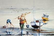 Les artistes s'expriment / Les artistes sont nombreux sur l'île de Ré, en particulier les peintres, pour certains célébrités d'envergure internationale !