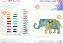 Techniques / Art, painting, decor craft DIY, fonts