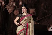 Designer Sarees / Stunning sarees with unique blouse designs