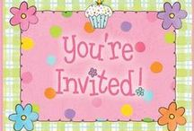PaRtY InViTaTiOnS / Invitations we sell at the shop and online.