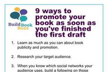 Book marketing tipographics / Click on each book marketing tipographic to go to a blog post with more detailed how-to information.