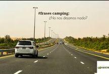 Frases de camping / Frases de aquellos que se van de camping con su remolque de ocasión cargado para la aventura. http://rcomanche.com/