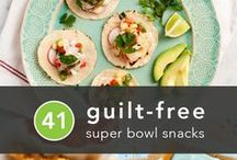 Game Day | Super Bowl Food + Party Ideas / Game-Day Recipes. Host a spectacular Super Bowl party with game-day recipes for crowd-pleasing finger foods and easy appetizers, like chicken wings, dips, chili, nachos, guacamole and more.