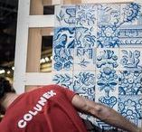 "Building Dreams / ""5750 hand painted tiles, 14 Portuguese artisans and more than 5000 working hours later, Colunex has created something unique""."