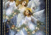 rajzolt angyalok, tündérek, szt. család