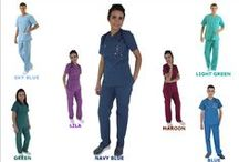 SCRUBS / COLORFUL SCRUBS MADE FROM TERRYCOTTON FABRIC