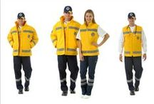 EMERGENCY COATS / HIGH VISIBILITY PROTECTIVE EMERGENCY COATS MADE FROM POLYESTER FABRIC