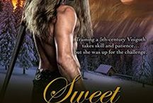 Sweet Barbarian Inspirations / A time-travel romance in which a Visigoth warrior from the year 483 is sent (way) forward in time by a Druid Priestess to keep him from being executed, in exchange for his love and loyalty forever. Only problem is, he falls in love with the modern-day girl who takes him in instead...