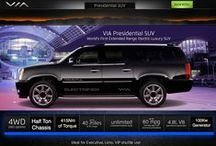 Electric SUVs / VIA Motors specializes in extended-range electric trucks, electric vans and electric SUV's (sports utility vehicles). http://www.viamotors.com & http://www.facebook.com/viamotors
