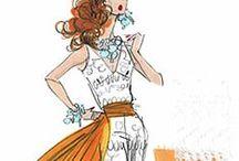 illustrated art of fashion / fashion illustrations