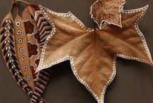 penas.*  folhas.* / folhas , penas -ideias para decorar