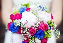 Wedding Bouquets: Bright & Beautiful / Color combinations in bright and vivid hues, from bright pinks and yellows to rich oranges, violets, corals, and jewel tones. / by Heather Ennis
