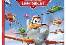 Lentsikat | Planes / Vauhdikkaat lentsikat seikkailevat kirjoissa, puuhakirjoissa, leluissa ja tekstiileissä.