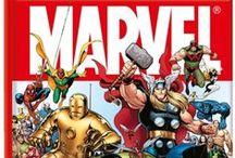 Marvel / Marvel-aiheisia kirjoja, pelejä, dvd-levyjä ja leluja.