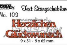Crealies Text Stanzschablonen / You can buy them here: https://www.crealies.nl/n1/29717/Stans-Duitse-Text-Stanzschablo.htm
