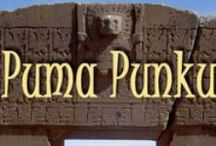 PUMA PUNKU / Pumapunku or Puma Punku is part of a large temple complex  that is part of the Tiwanaku Site near Tiwanaku, Bolivia. It is significant in Inca traditions because it is believed to be the site where the world was created.  Of all the sacred sites I am aware of, this is one of the oldest and most mysterious.