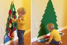 Themes & Schemes: Christmas & Holidays Around the World Themes / Christmas-themed ideas for PreK and Kindergarten, including art ideas, crafts, literacy and math centers, bulletin boards and more! Also links to lots of great free printables! Includes elves, christmas trees, Santa, etc.