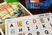 Literacy: Alphabet / Ideas for alphabet activities, games, crafts, and ways to teach the ABC's for Kindergarten and PreK!