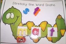 Literacy: Phonics & Phonemic Awareness / Ideas for phonics and phonemic awareness activities, games, crafts, and ways to teach letter sounds for Kindergarten and PreK!