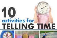 Math: Time / Ideas for centers, activities, printables, teaching and reinforcing time concepts in PreK and Kindergarten!