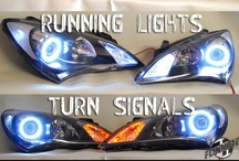 Switchback LED Bulbs / One bulb, two different colors.  Running lights turn on the White LEDs, and Turn signals change the bulb from white to Amber during blinking!