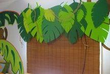 Classroom Schemes: Jungle/Safari / Idea for a jungle/safari decorated classroom!