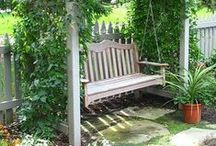 Garden Structures, fences, benches, GATES / by Sandy SKDCP