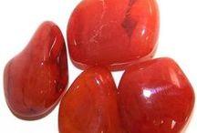 Gemstones - red, yellow