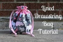 Drawstring Bag Patterns / Learn how easy drawstring bags are to make with these patterns and tutorials. More at www.Love-to-Sew.com