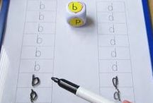Racó llegir i escriure P4 / Racó de treball on els nens realitzen activitats relacionades amb el codi escrit d'acord amb les seves capacitats. Confegir paraules, copiar paraules, escriure lliurement, identificar lletres, identificar fonemes, classificar, llegir o deduir paraules amb suport visual...