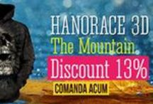 Hanorace 3D The Mountain / Hanorace unisex cu imprimeuri colorate.