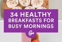 Frantic Morning Breakfast Ideas / Make-ahead and quick breakfast ideas for those frantic mornings! Make sure to grab your breakfast to go or eat something before the workday.