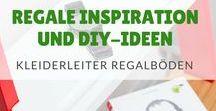 Regale Inspiration DIY / Die Kleiderleiter kann mit flexiblen Regalböden ganz einfach in ein praktisches Regal umgewandelt werden. Die Kleiderleiter mit vielen Ablageflächen - als Nachttisch im Schlafzimmer, als Bücherregal oder Ablage in der Garderobe und im Badezimmer. Der perfekte moderne Stumme Diener für ein ordentliches Zuhause. Rabattcode: PIN5OFF