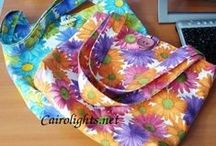MY Bags / bag, chrochet bags,fabric bags