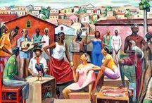 Janelas lusófonas / Pinturas e ilustrações do mundo lusófono.
