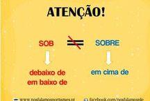 Cuidado com a língua! / Regras a ter em conta no uso do português!
