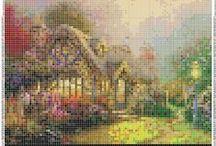 Cross Stitch Houses, Doors & Windows