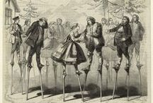 stilts in NYPL Digital Collections
