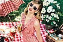 picnic fashions / Regardless of era, the right attire defines the picnic fashionista...for you and your picnic